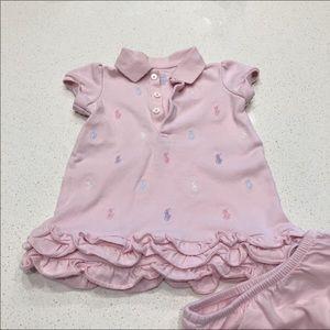 Ralph Lauren Baby Girl Logo Dress